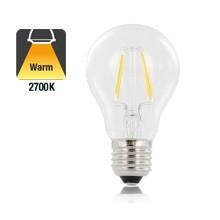 E27 4w Filament A60, Classic Globe, 470 Lumen, 2700K Warm Wit, 2 Jaar Garantie