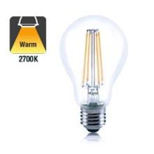 E27 6w Filament A60, Classic Globe, 806 Lumen, 2700K Warm Wit, 2 Jaar Garantie