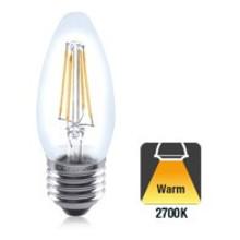 E27 4w Filament Peer, 470 Lumen, 2700K Warm Wit, 2 Jaar Garantie