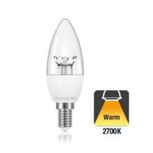 E14 3,4w Classic Peer Transparant, 250 Lumen, 2700K Warm wit, 2 Jaar garantie
