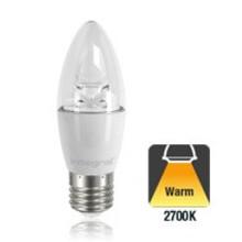 E27 5,5w Classic Peer Transparant, 470 Lumen, 2700K Warm wit, 2 Jaar garantie