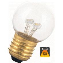 E27 0,7w Bol Lamp, 30 Lumen, Transparante Kap, 2000K Flame