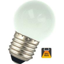 E27 1w Bol Lamp, 30 Lumen, Matte Kap, 2000K Flame