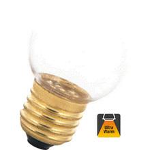 E27 1w Bol Lamp, 30 Lumen, Transparante Kap, 2000K Flame