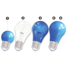 E27 LED Bollamp Blauw