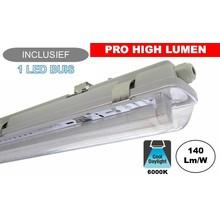 Complete LED TL Armatuur 150cm 24W, ±3370LM (Pro High Lumen), 6000K Daglicht Wit, IP65, Incl. 1x led buis, 3 Jaar garantie