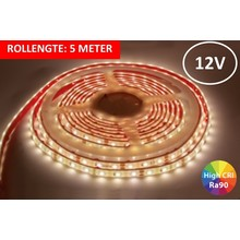 OP=OP Led Strip ROL 5 meter 3528SMD, 6w/m, 60 led/m, 400Lm/m, 4000K Neutraal wit, 12v, CRI90, IP67, 10mm, 3 Jaar garantie