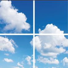 Fotoprint afbeelding Wolken 120x120cm voor 4x LED Paneel 60x60cm