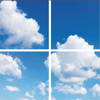 Fotoprint afbeelding Wolken 120x120cm voor 4x 60x60cm led paneel