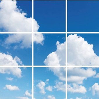 Fotoprint afbeelding Wolken 180x180cm voor 9x 60x60cm led paneel