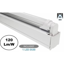 Complete LED TL Montagebalk 120cm, 18W, 2160LM (High Lumen), 4000K Neutraal Wit, IP20, Incl. 1x led buis, 2 Jaar garantie