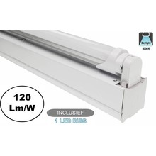 Complete LED TL Montagebalk 120cm, 18W, 2160LM (High Lumen), 5000K Puur Wit, IP20, Incl. 1x led buis, 2 Jaar garantie