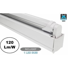 Complete LED TL Montagebalk 120cm, 18W, 2160LM (High Lumen), 6000K Daglicht Wit, IP20, Incl. 1x led buis, 2 Jaar garantie