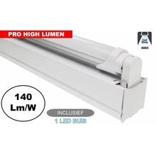 Complete LED TL Montagebalk 120cm, 20W, 2800LM (Pro High Lumen), 4000K Neutraal Wit, IP20, Incl. 1x led buis, 3 Jaar garantie