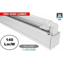 Complete LED TL Montagebalk 120cm, 20W, 2940LM (Pro High Lumen), 5000K Puur Wit, IP20, Incl. 1x led buis, 3 Jaar garantie