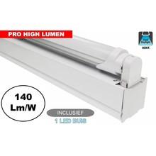 Complete LED TL Montagebalk 120cm, 20W, 3080LM (Pro High Lumen), 6000K Daglicht Wit, IP20, Incl. 1x led buis, 3 Jaar garantie