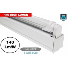 Complete LED TL Montagebalk 150cm, 24W, 3370LM (Pro High Lumen), 6000K Daglicht Wit, IP20, Incl. 1x led buis, 3 Jaar garantie