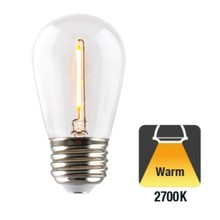 E27 1w Filament Bol Lamp, 35 Lumen, Transparante Kap, 2700K Warm Wit