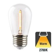 E27 1w Filament Bol Lamp, 60 Lumen, Transparante Kap, 2700K Warm Wit