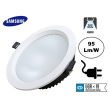 Led Downlighter 24w PROF, 2160 Lumen, 4000K Neutraal Wit, UGR19, Samsung Leds, Stekkerklaar, Gatmaat 175mm, 3 Jaar Garantie