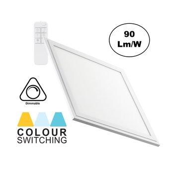 LED Paneel 30x30cm, 24w, 2000 Lumen, CCT Kleurregeling (3000K-6000K), Dimbaar, Wit Frame, 3 Jaar Garantie