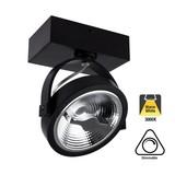 Opbouw LED Spot AR111, 15w, 800 Lumen, 3000K Warm Wit, Dimbaar, Zwart Armatuur, 3 Jaar Garantie