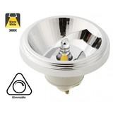GU10 AR111 LED Spot 12w, 800 Lumen, 3000K Warm Wit, 24°, Dimbaar, 3 Jaar Garantie