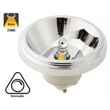 GU10 AR111 LED Spot 12w, 700 Lumen, 2700K Warm Wit, 45°, Dimbaar, 3 Jaar Garantie