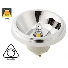 GU10 AR111 LED Spot 12w, 700 Lumen, 2700K Warm Wit, 45°, Dimbaar, 2 Jaar Garantie
