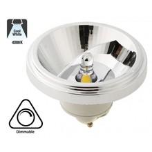GU10 AR111 LED Spot 12w, 840 Lumen, 4000K Neutraal Wit, 45°, Dimbaar, 2 Jaar Garantie