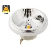 G53 AR111 LED Spot 12w, 700 Lumen, 2700K Warm Wit, 45°, 12v, 3 Jaar Garantie