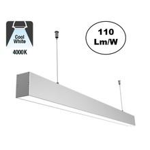 Led Linear Lamp 150cm, 48w, 5280 Lumen (110lm/w), 4000K Neutraal wit, Aluminium behuizing, 3 Jaar Garantie