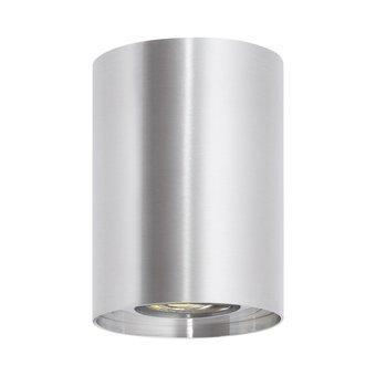 Opbouwarmatuur Rond Ø80x110 mm, Zilver, (1x GU10 spot)