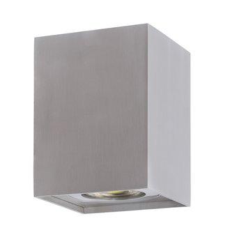 Opbouwarmatuur Vierkant 83x83x110 mm, Zilver, (1x GU10 spot)