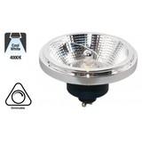 GU10 AR111 LED Spot 12w Zwart, 840 Lumen, 4000K Neutraal Wit, 45°, Dimbaar, 3 Jaar Garantie