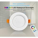 Mi-Light LED Downlighter 6w RGB + CCT, Wifi/RF, 550 Lumen, IP54, Gatmaat 100mm, 2 Jaar Garantie