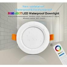 MiBoxer LED Downlighter 6w RGB + CCT, Wifi/RF, 550 Lumen, IP54, Gatmaat 100mm, 2 Jaar Garantie