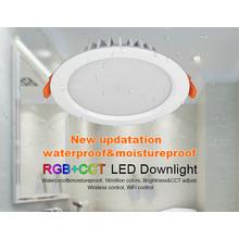 Mi-Light LED Downlighter 15w RGB + CCT, Wifi/RF, 1200 Lumen, IP54, Gatmaat 175mm, 2 Jaar Garantie