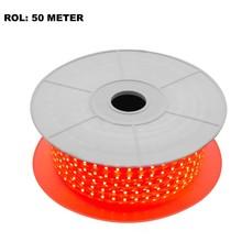LED Lichtslang Rood, Rol: 50 Meter, 10w/m, 60 leds/m, 600lm/m, IP65, 230V, 2 Jaar Garantie