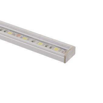 Aluminium Led Strip Profiel compleet met Heldere Afdekkap, Geschikt voor 8/10/12mm led strips, Lengte: 1 meter