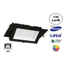 LED Etalage Spot 20w, 4000K Neutraal Wit, 2600 lm (130lm/w), Samsung LED, Lifud Driver, Gatmaat 230x130mm, CRI90, Zwart, 3 Jaar Garantie