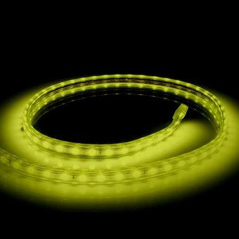 LED Lichtslang Op Maat Per Meter:  Geel, 10w/m, 60 leds/m, 840lm/m, IP65, 230V