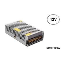 Led Strip voeding 12V/120W/10A, Max: 100w, 2 Jaar Garantie