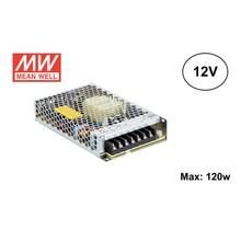 MeanWell Led Strip voeding 12V/150W/12,5A, Max: 120w, 2 Jaar Garantie