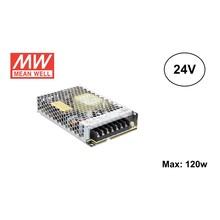 MeanWell Led Strip voeding 24V/150W/6A, Max: 120w, 2 Jaar Garantie
