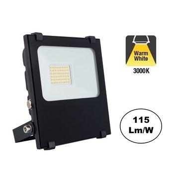 PRO LED Floodlight 20w, 2700 Lumen, 3000K Warm Wit, IP65, 3 Jaar garantie