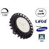 Samsung High Bay Led Ufo 100w, 14500 Lumen, 5000K Puur Wit, IP65, Lifud Driver, Dimbaar, 5 Jaar Garantie