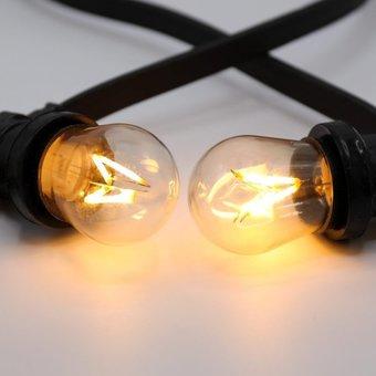 E27 3,5w Filament Bol, 230 Lumen, 2000K Flame, Dimbaar