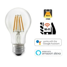 Idinio Smart WiFi E27 Filament LED Lamp 5w, 2700K Warm Wit, 500 Lumen, Dimbaar met Idinio App / Google Assistant / Amazon Alexa, 2 Jaar Garantie