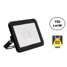 LED Floodlight Slim 10w, 3000K Warm Wit, 1000 Lumen (100lm/w), IP65, 2 Jaar garantie